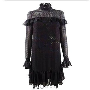NWT ✨BETSEY JOHNSON 💋 glitter ruffled dress